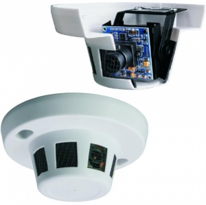 24 Hour Dummy Smoke Alarm CCTV Spy Security Surveillance Camera