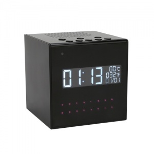 HD Desk Clock WiFi Camera Recorder Music Player