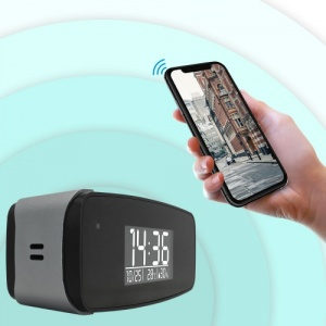 WiFi HD Clock Spy Camera with Night Vision and Motion Detection