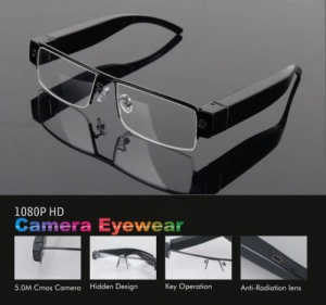 Glasses with Built in Hidden HD Spy Video Camera
